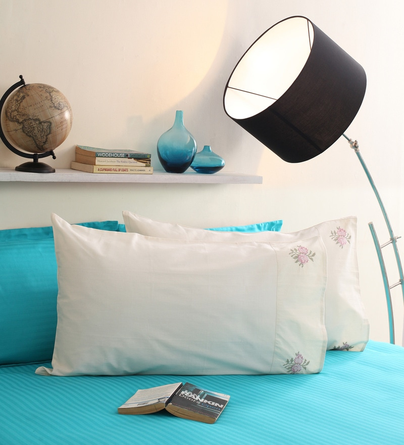 Cream Cotton 19 x 30 Pillow Cover - Set of 2 by Milano Home