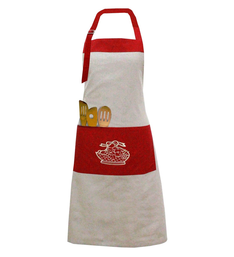 Milano Home Multicolour 100% Cotton Embroidered Apron