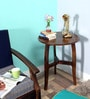 Alma End Table in Provincial Teak Finish by Woodsworth
