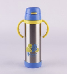 Monet Vogue Yellow And Blue Stainless Steel 500 ML Sipper Bottle