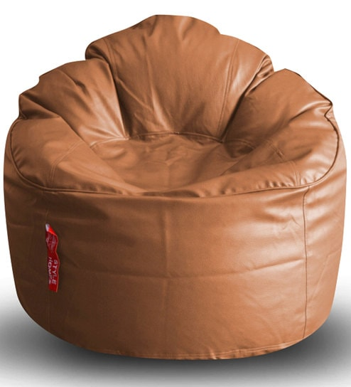 Modern Mooda Rocker XXXL Bean Bag with Beans in Tan Colour by Style HomeZ