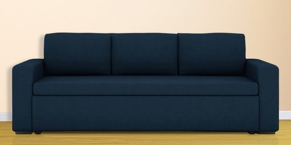 Morris Three Seater Sofa Bed In Royal Blue Colour
