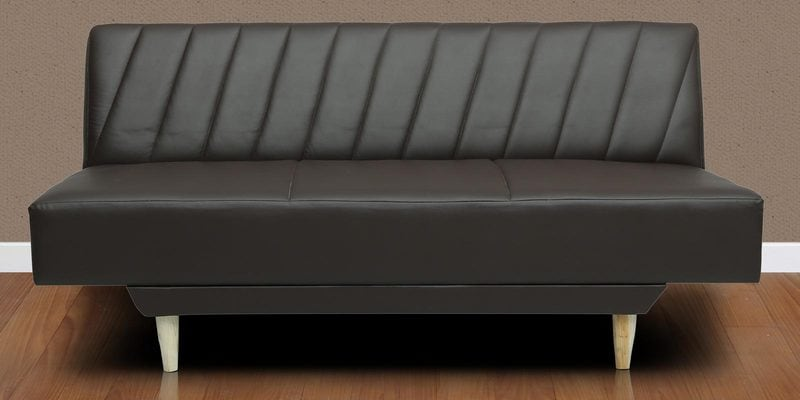 Morris Sofa cum Bed in Black Leatherette by Cloud9