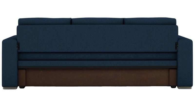 Buy Morris Three Seater Sofa Cum Bed In Royal Blue Colour