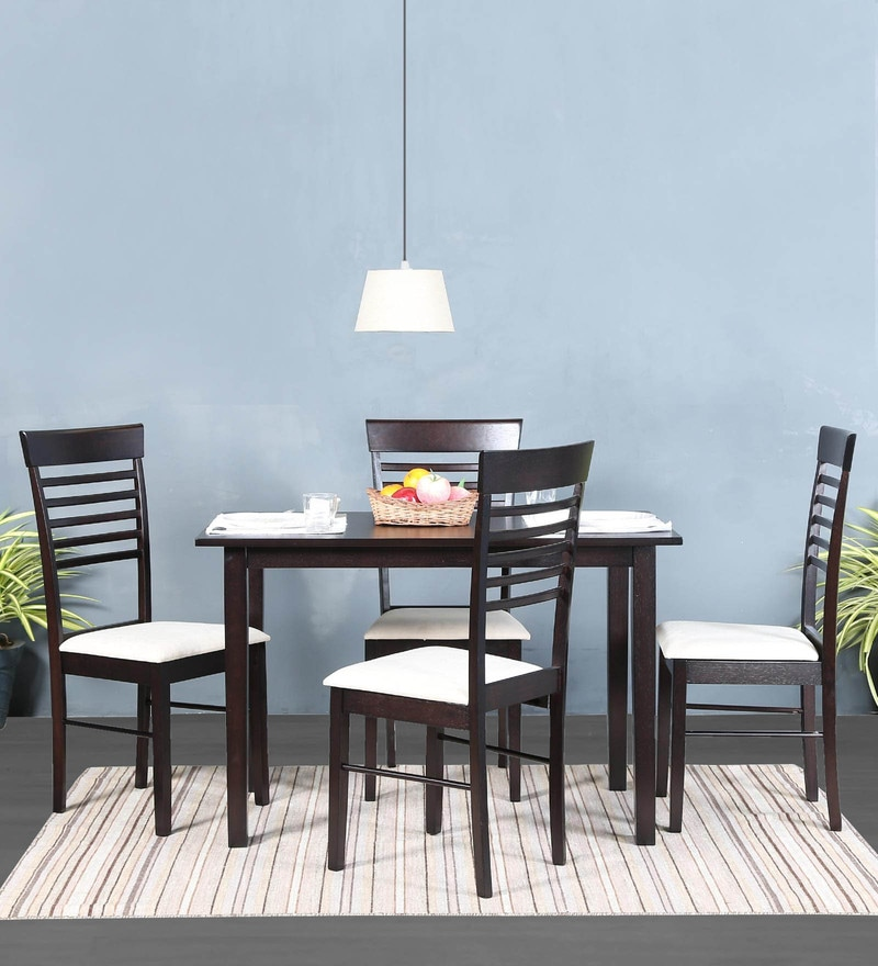 Moe Four Seater Dining Set in Wenge Finish by Mintwud