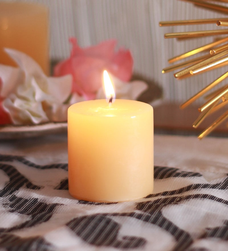 Mogra Scented Pillar Candles by Aroma India