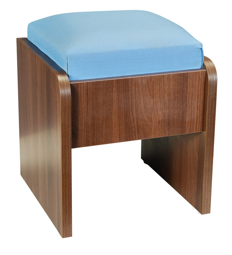 Buy Moka Seating Cushioned Stool In Brown Finish By Addy