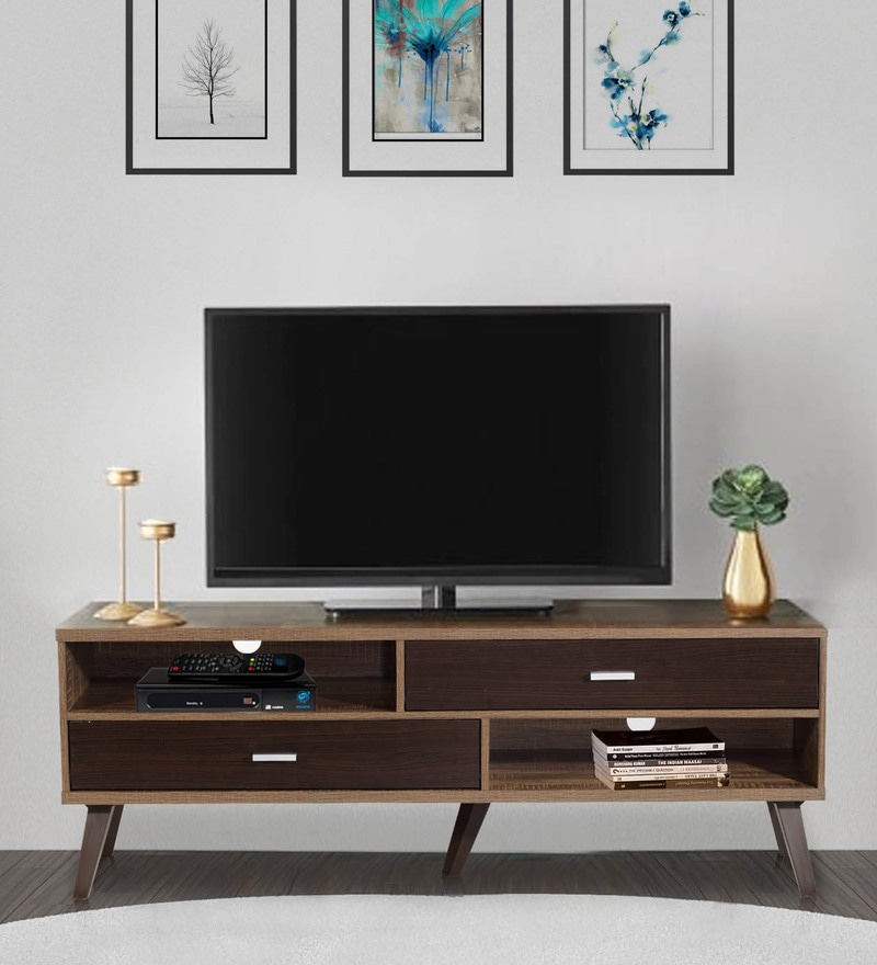 Buy Mokuzai Entertainment Unit Cabinet in Oak Finish by Mintwud ...