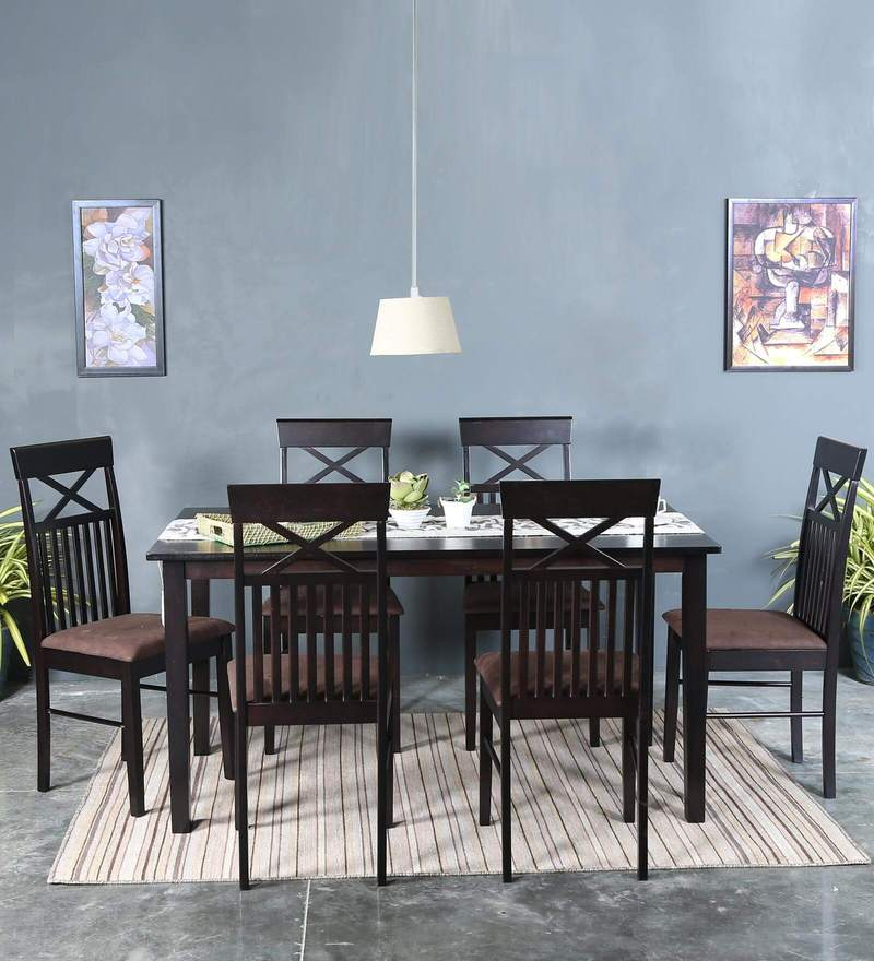 Momoko Six Seater Dining Set in Wenge Finish by Mintwud