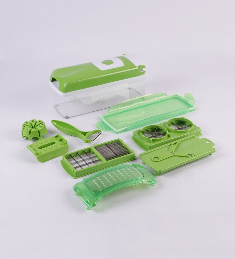 Monet 1-Step Green Plastic Precision Cutting Nicer Dicer 9-piece Set