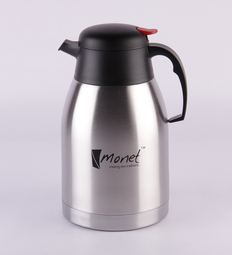 Monet Black and Silver Stainless Steel 2 L Ultima Pot