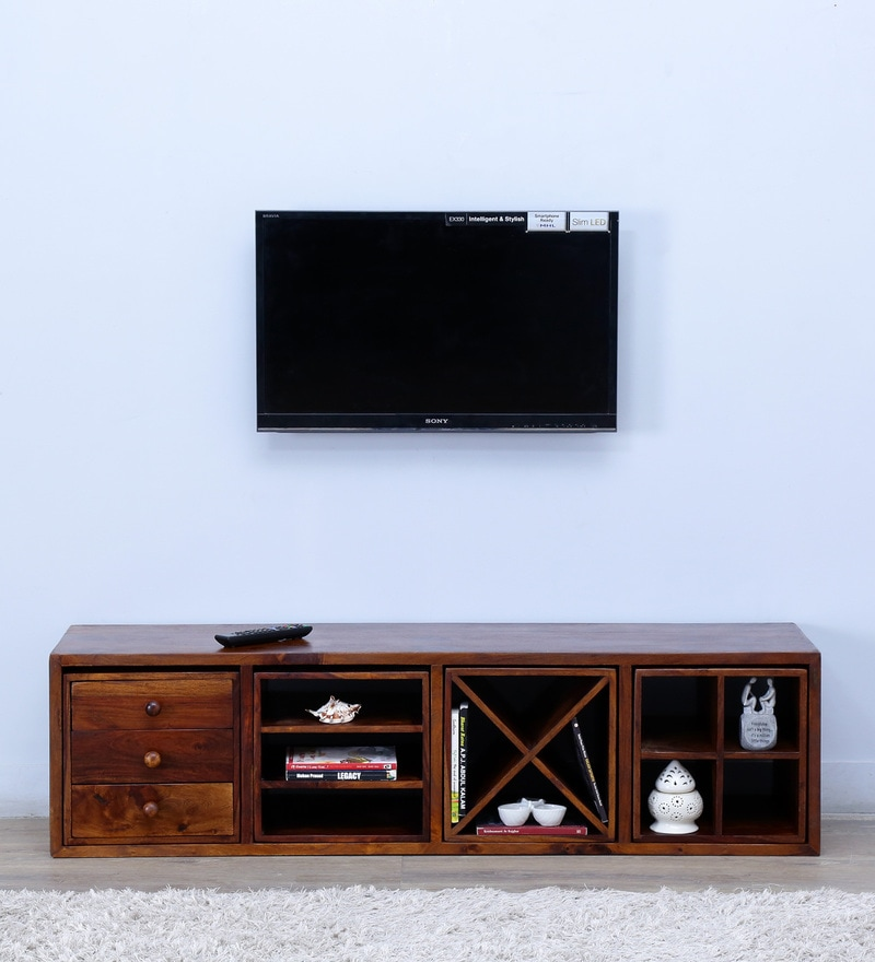 Montevideo Entertainment Unit in Provincial Teak Finish by Woodsworth