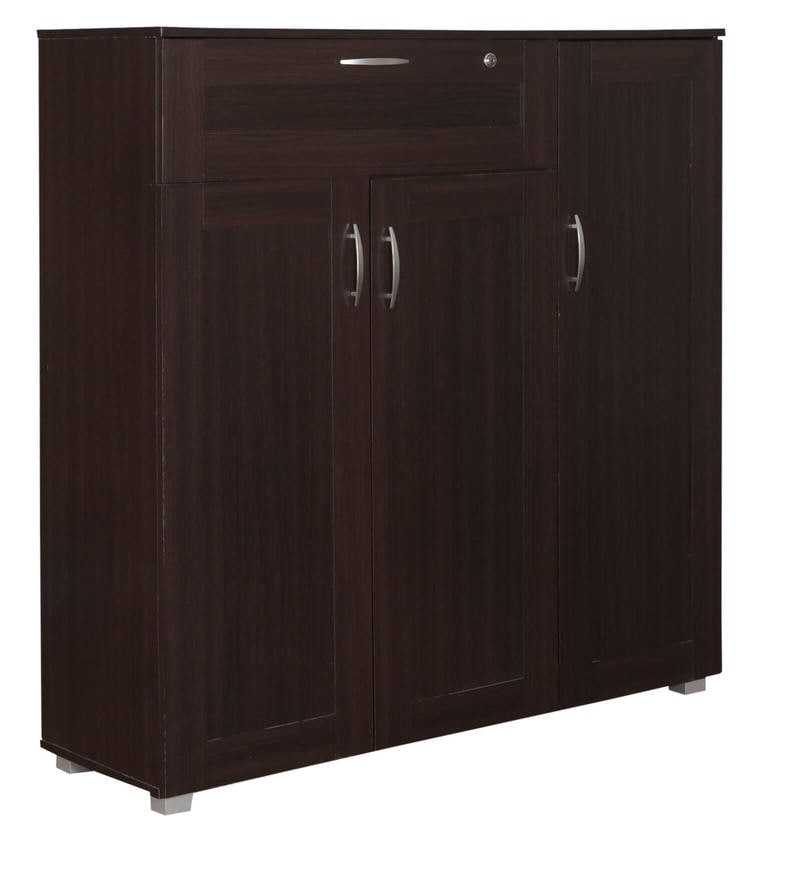 kitchen cabinets with drawers buy morley three door shoe rack with drawer in wenge 21408