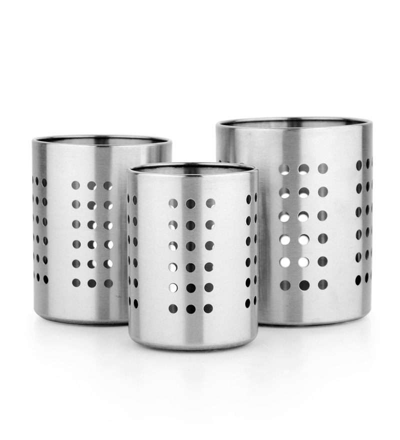Mosaic Para Stainless Steel Cutlery Holder - Set of 3