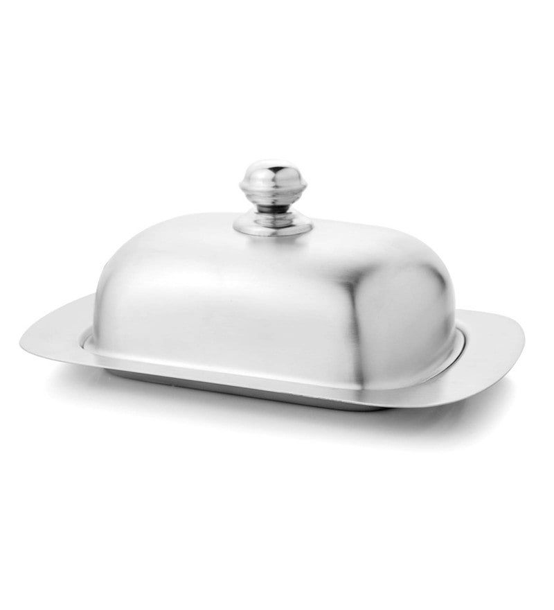 Mosaic Stainless Steel Butter Dish