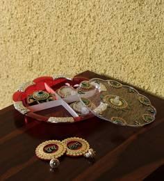 Multicolour Acrylic Gift Set Diyas & Thali