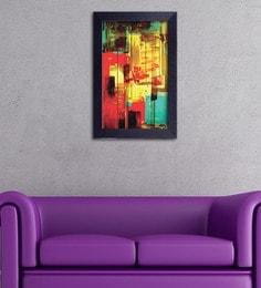 Multicolour Canvas Cloth Decor Design Abstract In Vibrant Colours Digital Art Print