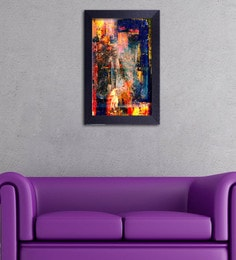 Multicolour Canvas Cloth Modern Art Blend Of Colours Digital Art Print