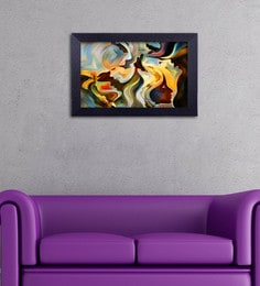 Multicolour Canvas Cloth Modern Art Forming Different Face Digital Art Print