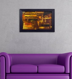 Multicolour Canvas Cloth Modern Art With Rustic Feel Digital Art Print