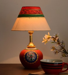 Multicolour Fabric Table Lamp - 1607796