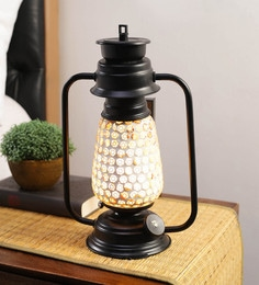 Multicolour Glass Mosaic Lantern Table Lamp By New Era - 1672715