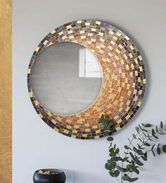 Multicolour MDF Decorative Mosiac Chandra Mirror