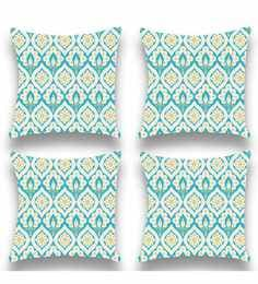 Multicolour Satin 16x16 Inch Cushion Covers - Set Of 4 - 1661246