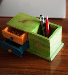 Multicolour Steam Beech Wood Parrot Table Organiser