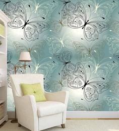 Multicolour Vinyl Butterfly Print Designer Peel And Stick Self Adhesive Wall Paper/Wall Sticker For ...