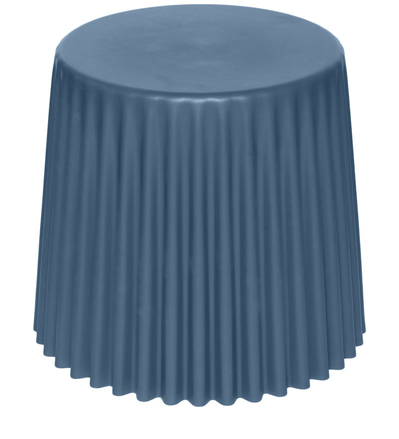 Buy Muffin Stool Cum Side Table In Slate Colour By Hauser