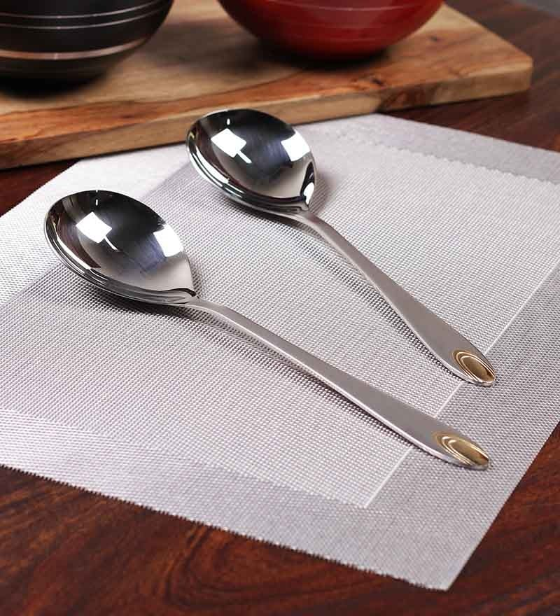 Mullich Cairo Stainless Steel Spoon - Set of 2