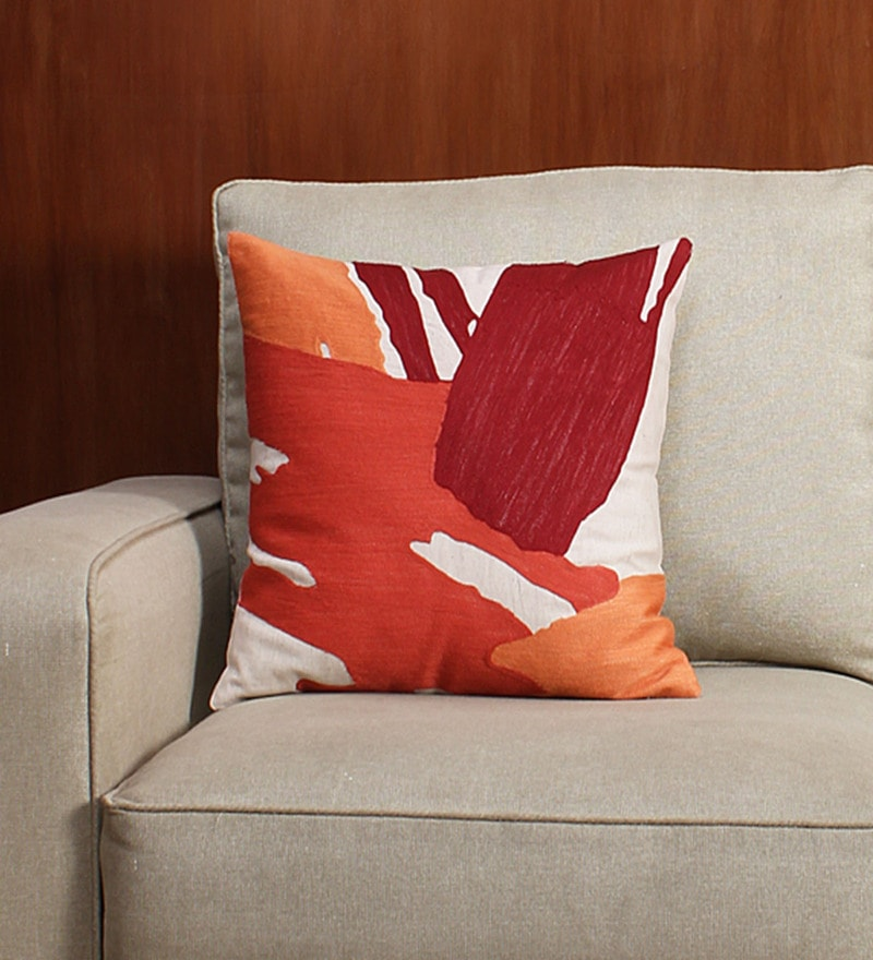 Multicolour 100% Cotton Cushion Cover by House This