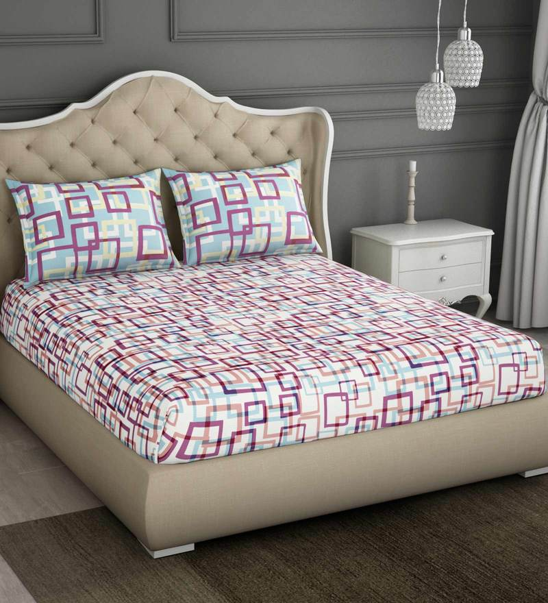 df69bff7eb2 Buy Pink 100% Cotton Bohochic King Bed Sheet Set by Spaces Online ...