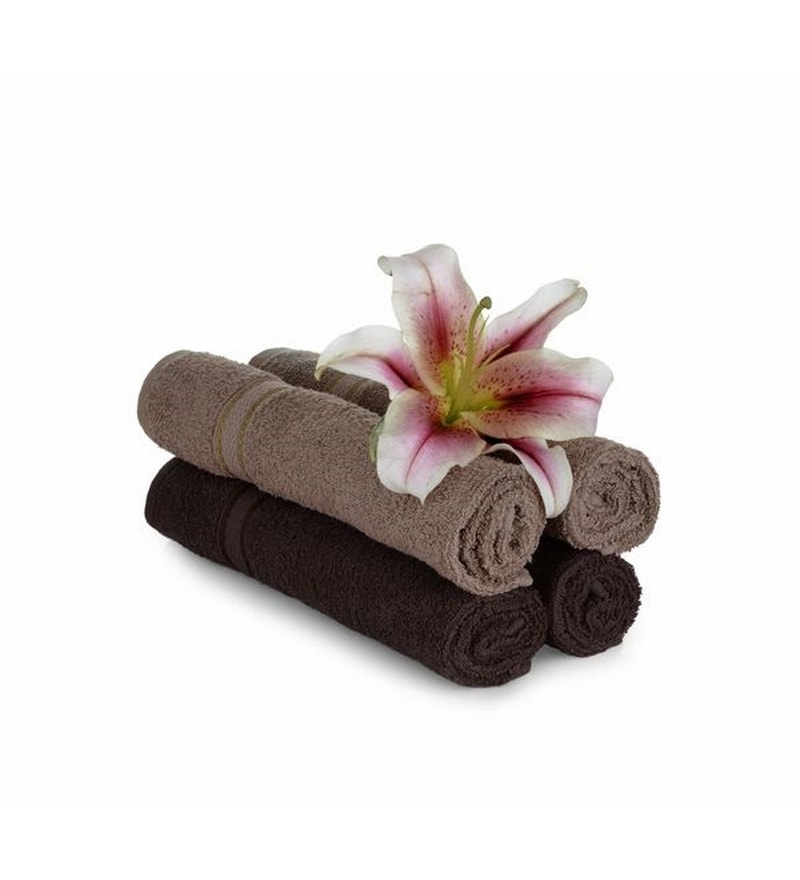 Multicolour Cotton 24 X 16 Hand Towel - Set of 4 by Mark Home