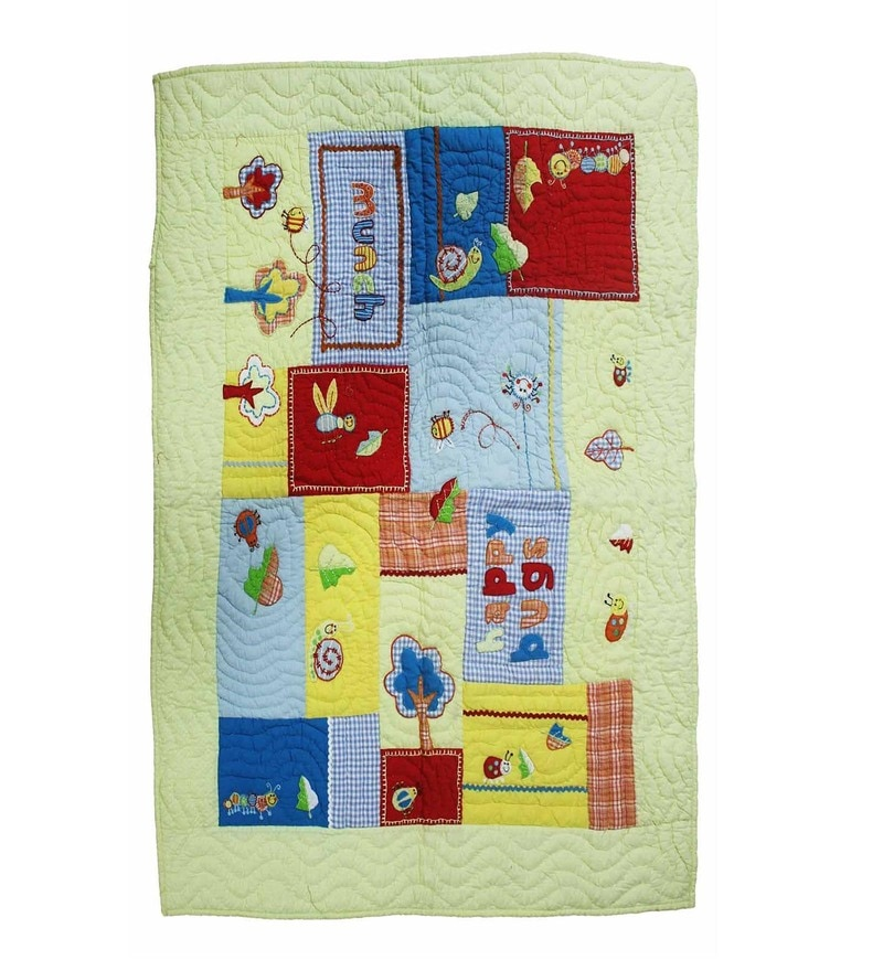 Multicolour Cotton 41 x 49 Inch Kids Blanket by R Home
