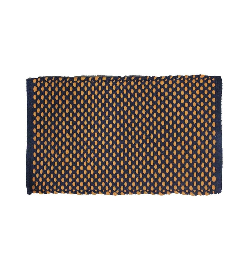Multicolour Cotton Blend 16 x 23 Inch Door Mat by R Home
