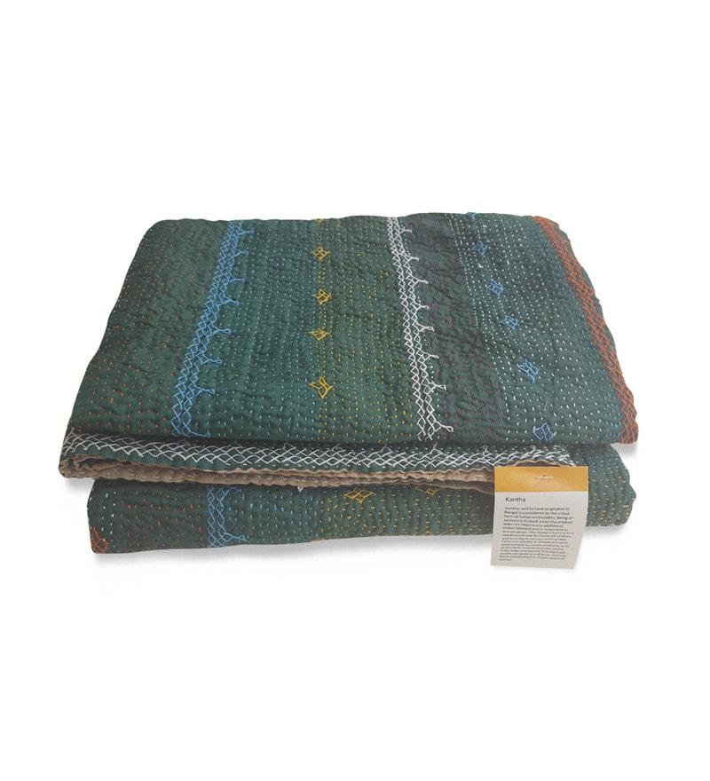 Multicolour Cotton Single Size Quilt by De Kulture Works
