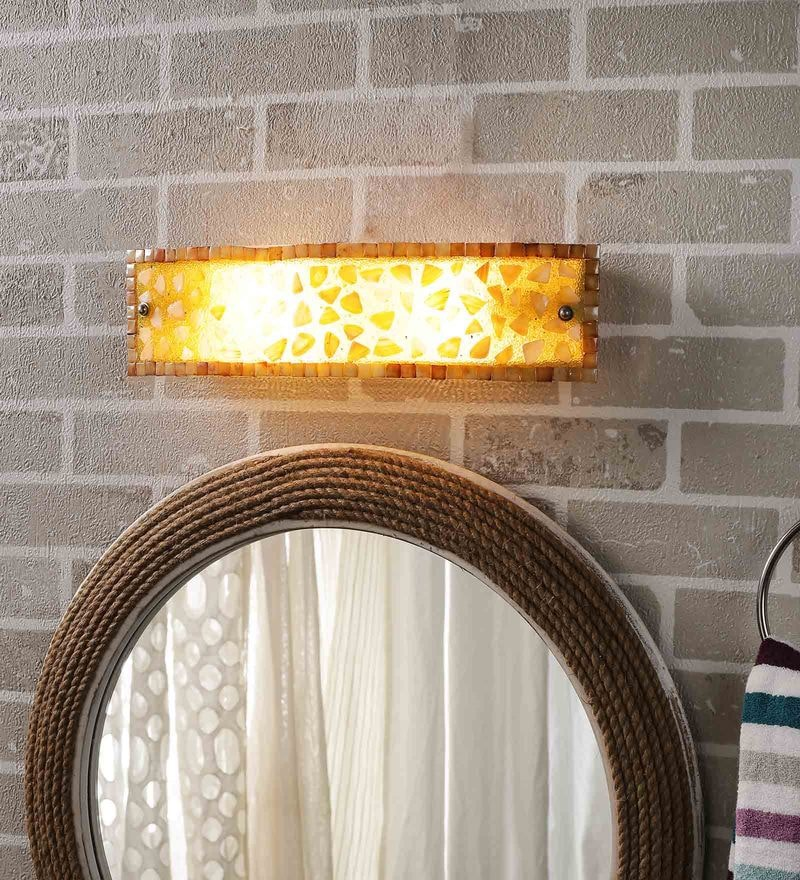 Multicolour Glass Bathroom Light by New Era