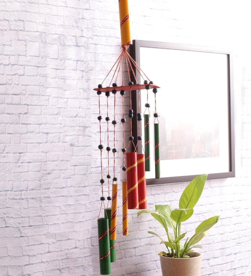 Multicolour Iron Hand Painted Wind Chimes by VarEesha