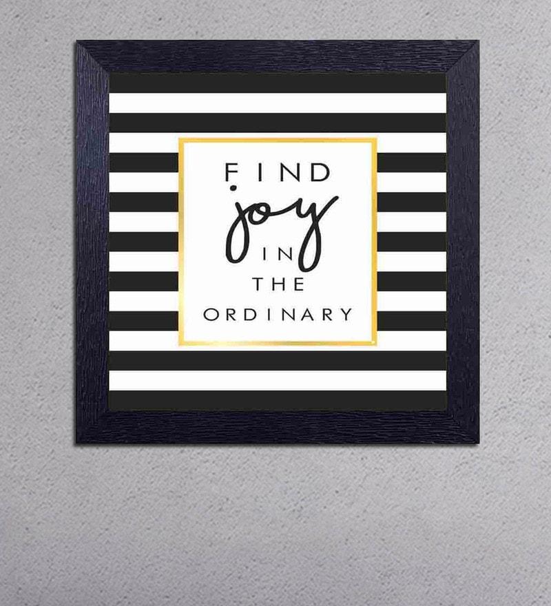 Multicolour Matt Paper Find Joy in The Ordinary Poster by Decor Design
