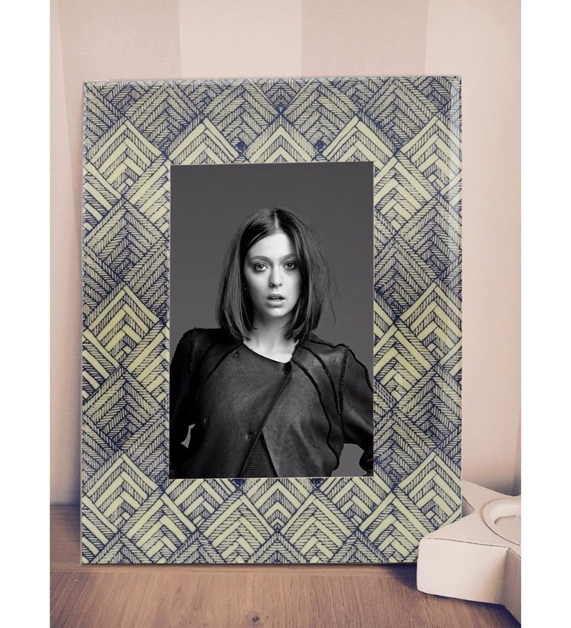 Multicolour MDF & Resin 6.5 x 1 x 8.5 Inch Handcrafted Cerulean Saga Photoframe by Rang Rage