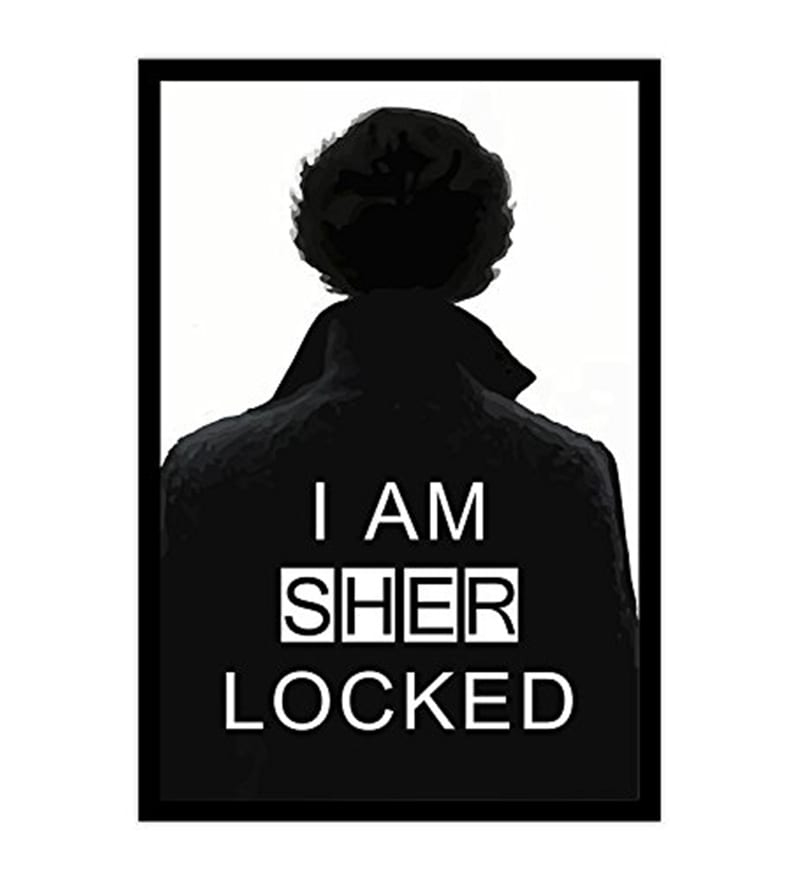 Multicolour MDF I Am Sherlocked Poster by MC SID RAZZ