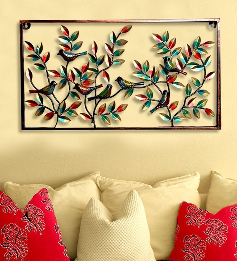Buy Green & Brown Metal Wall Hanging Tree Wall Hanging by ...