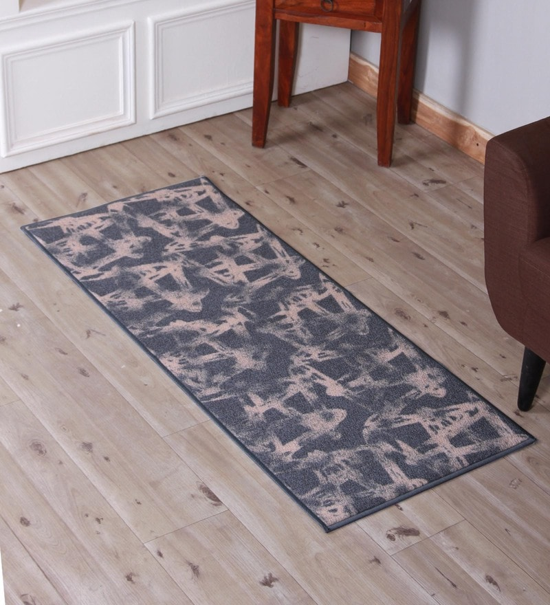 Multicolour Nylon 22 x 55 Inch Carpet by Welhome