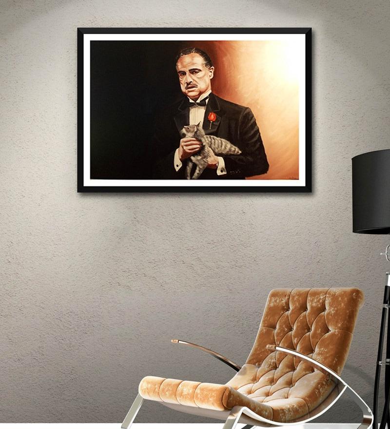 Multicolour Paper Marlon Brando Godfather by Tallenge