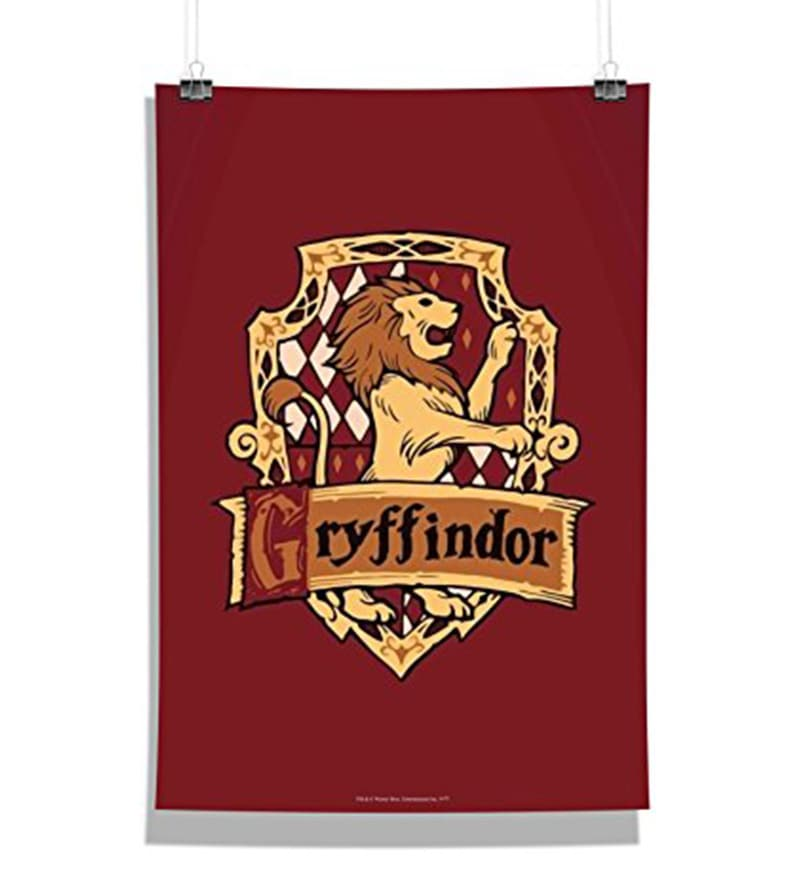 Multicolour Paper Official Harry Potter Gryffindor No.1 Poster by MC SID RAZZ