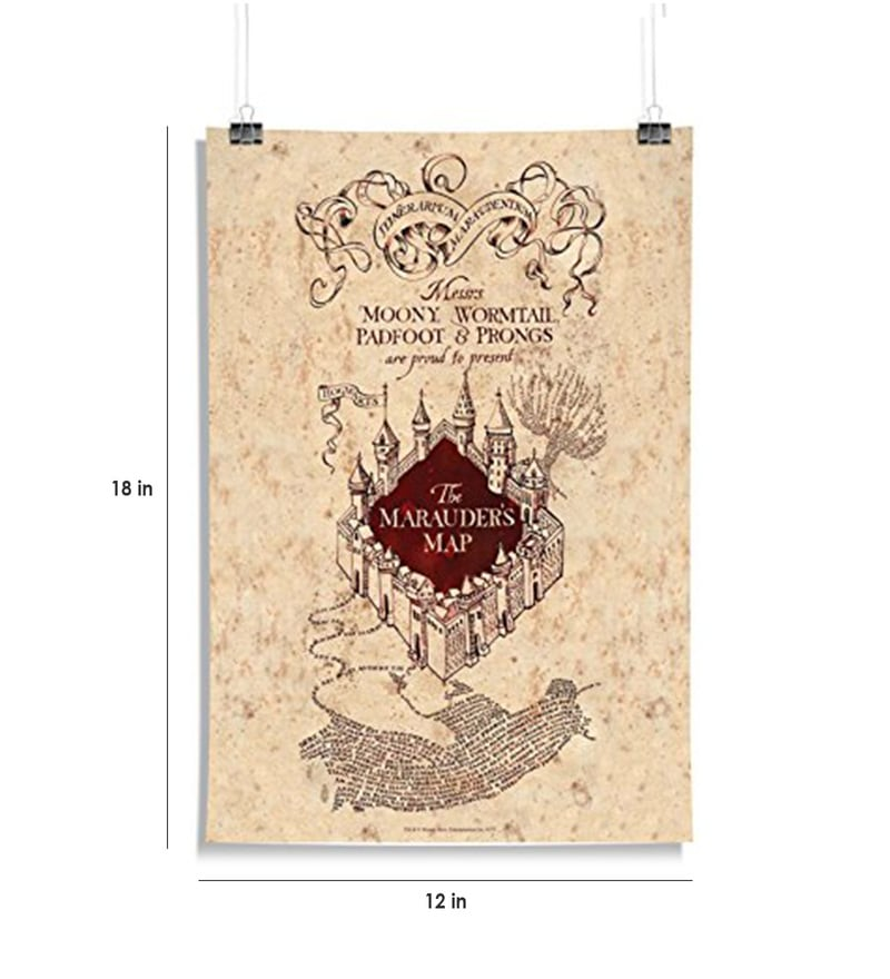 Buy Multicolour Paper Official Harry Potter The Marauder\'s Map ...