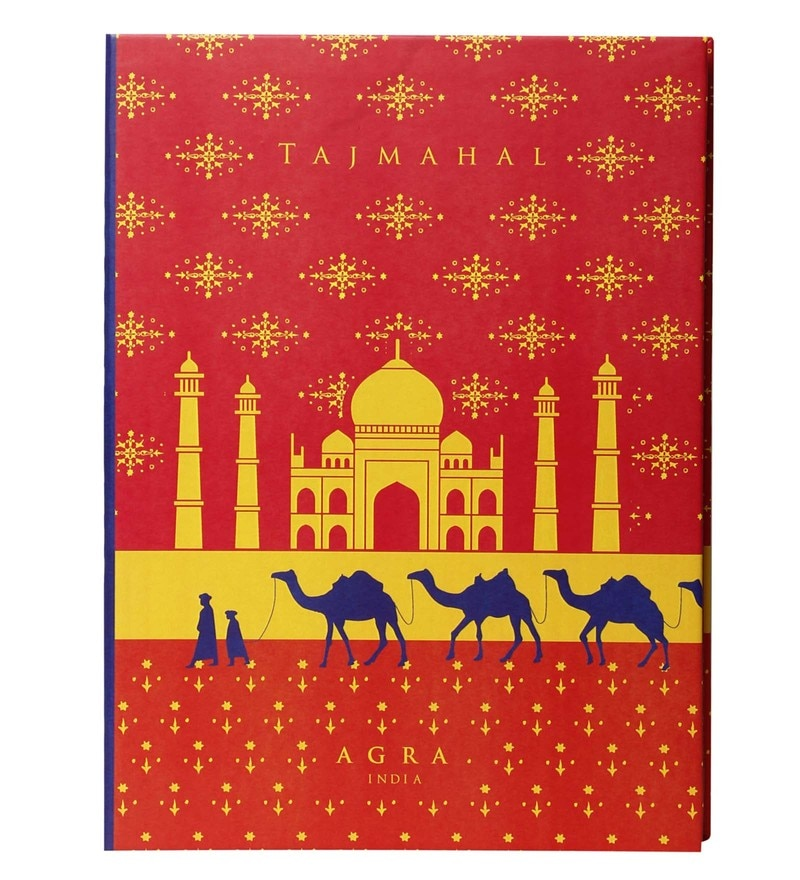 Multicolour Paper Taj Mahal With Camel Diary by Mad(e) in India