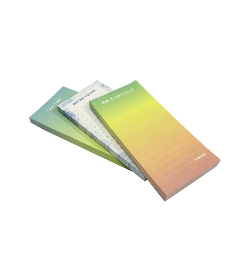 Multicolour Paper Thinkpot Memo Pads Set of 3 by Thinkpot
